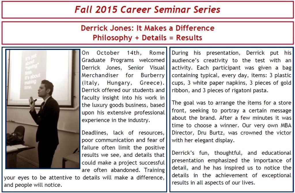 fall 2015 career seminar series